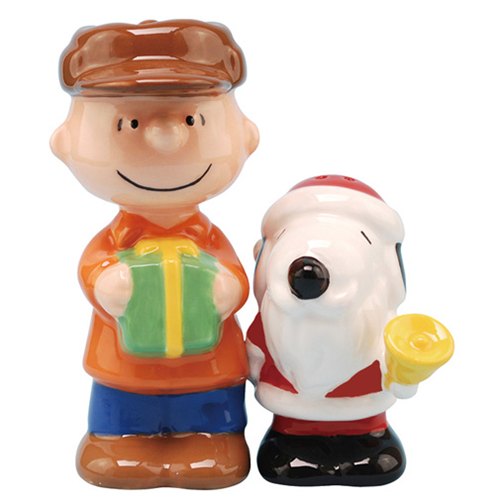 Peanuts Santa Snoopy and Charlie Brown S&P Shakers - Westland Giftware - Peanuts - Dining and Entertaining at Entertainment Earth