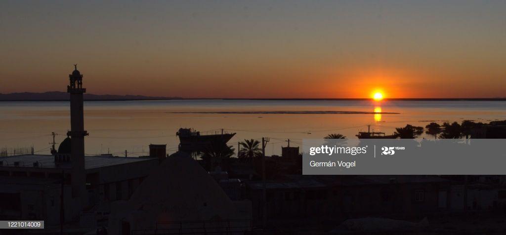 Peaceful Sunset In Bandarelaft Village Of Qeshm Island Persian Gulf Iran Photogr #Ad, , #spon, #Village, #Qeshm, #Bandarelaft, #Peaceful
