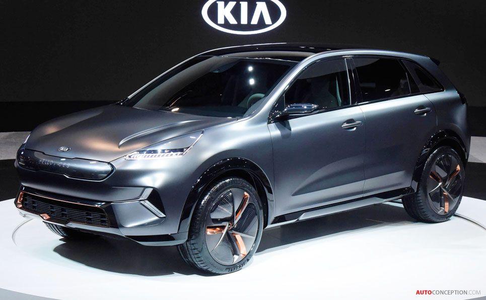 New Kia Niro Ev Concept Car Previews Forthcoming Production Model Autoconception Com Kia Electric Crossover Car