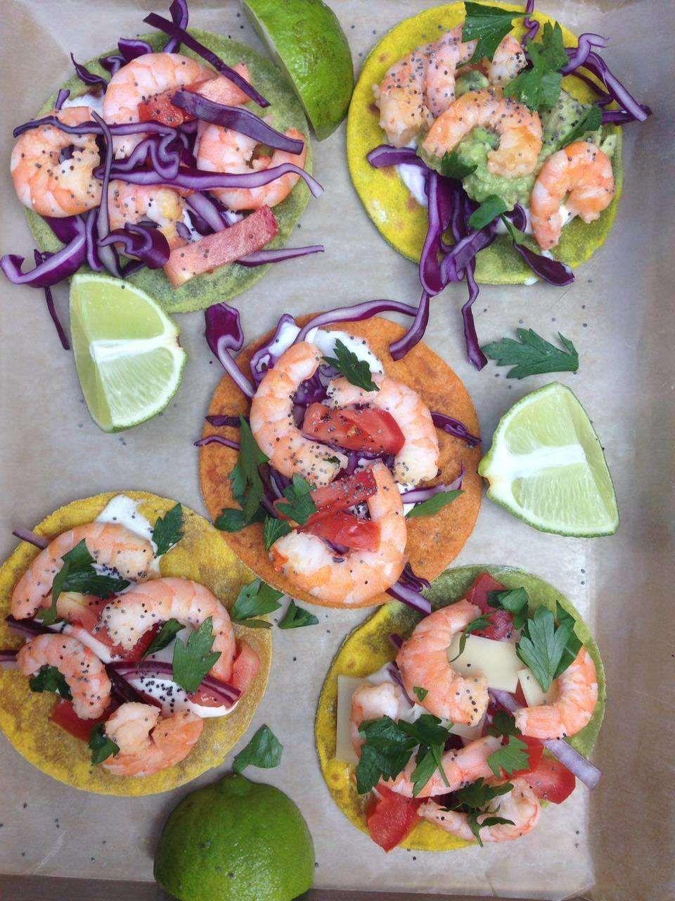Super tacos colorati con gamberi di GNAM BOX Kenwood   RICETTE CON ...