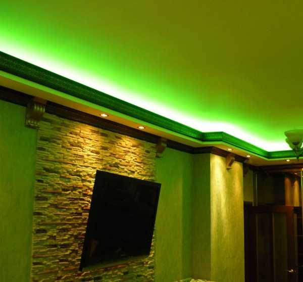 30 glowing ceiling designs with hidden led lighting fixtures ideas green color lighting aloadofball Images