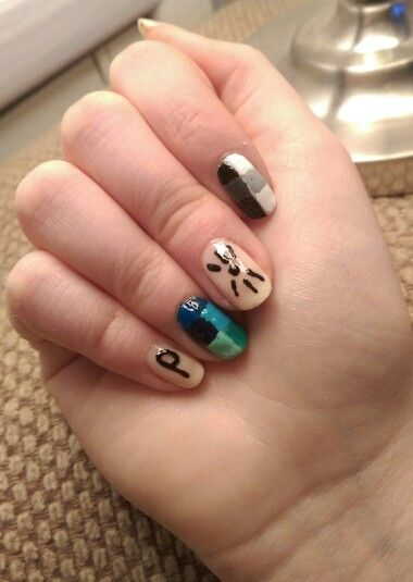 my dan and phil nails :) <<<< not my nails but they are really cool<<<AO GOOD