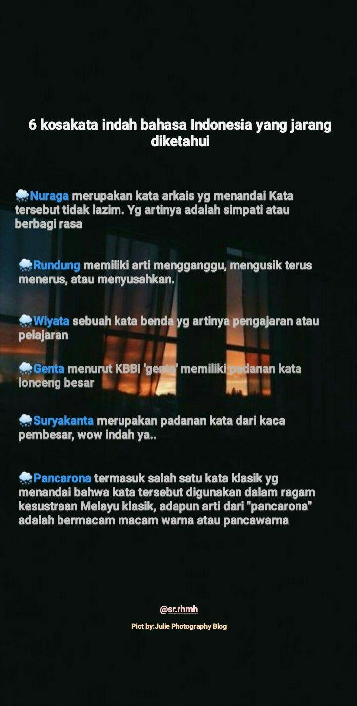 Kata Bahasa Indonesia Yang Indah : bahasa, indonesia, indah, Alifa, Fikrin, (afikrin), Profile, Pinterest
