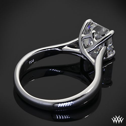 Vatche Royal Crown Solitaire Engagement Ring for Princess with 2.00ct Radiant