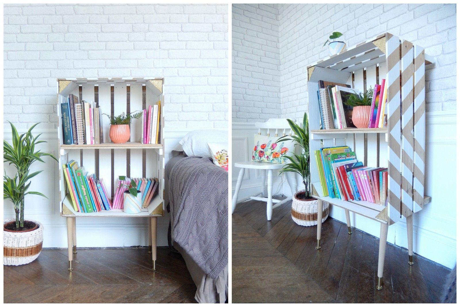 Diy Une Tag Re Dans Un Cageot Palettes Pinterest Idee