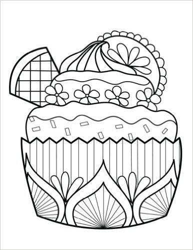 amazon com blank book journal cupcake dessert zentangle cover diary notebook