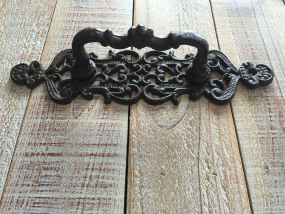Hey, I found this really awesome Etsy listing at https://www.etsy.com/listing/289941699/handle-pull-rustic-cast-iron-drawer-door