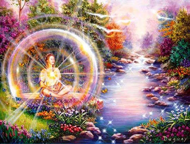 Sendero de Iluminación: EL AURA El aura es la energía vital o campo electromagnético que rodea en forma de óvalo a todos los seres vivos y que es imperceptible a plena vista, pues vibra a una frecuencia más alta que lo que llamamos campo físico.