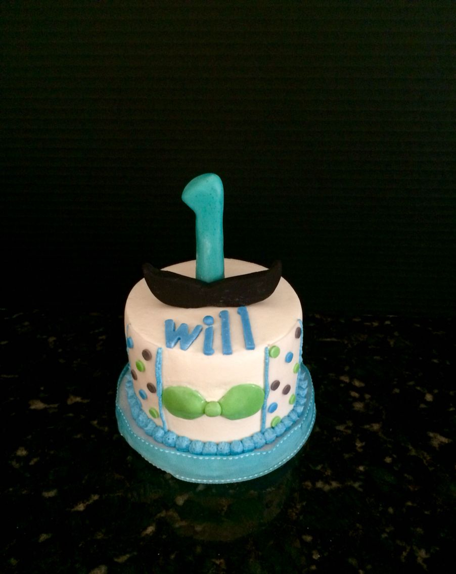 Little Man themed Happy Birthday Smash Cake Sweet Blessings