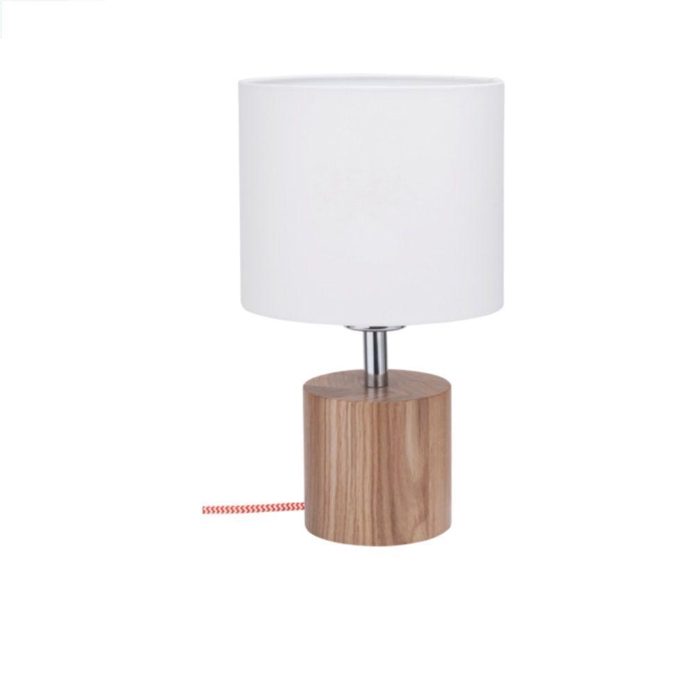 Exquisit Tischleuchten Mit Stoffschirm Ideen Von Spot-light Tischleuchte Trongo Ø 10cm, Holz Eiche