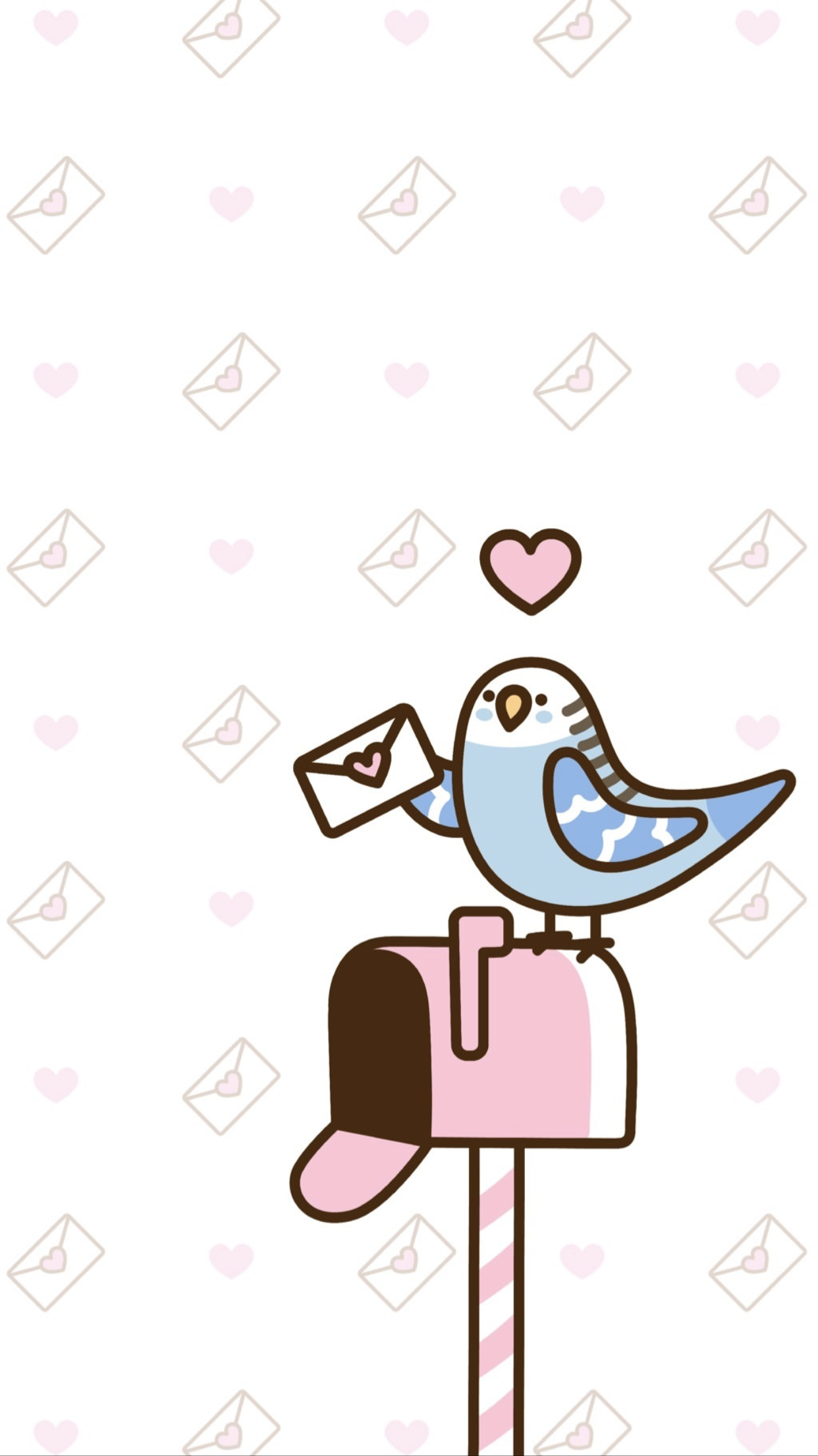 Pusheen The Cat Valentine S Day Iphone Wallpaper Kawaii Valentine Valentines Wallpaper Cute Pink Background