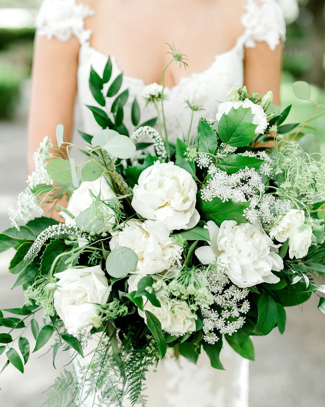 Lush white and green bouquets made by my favorite dallas