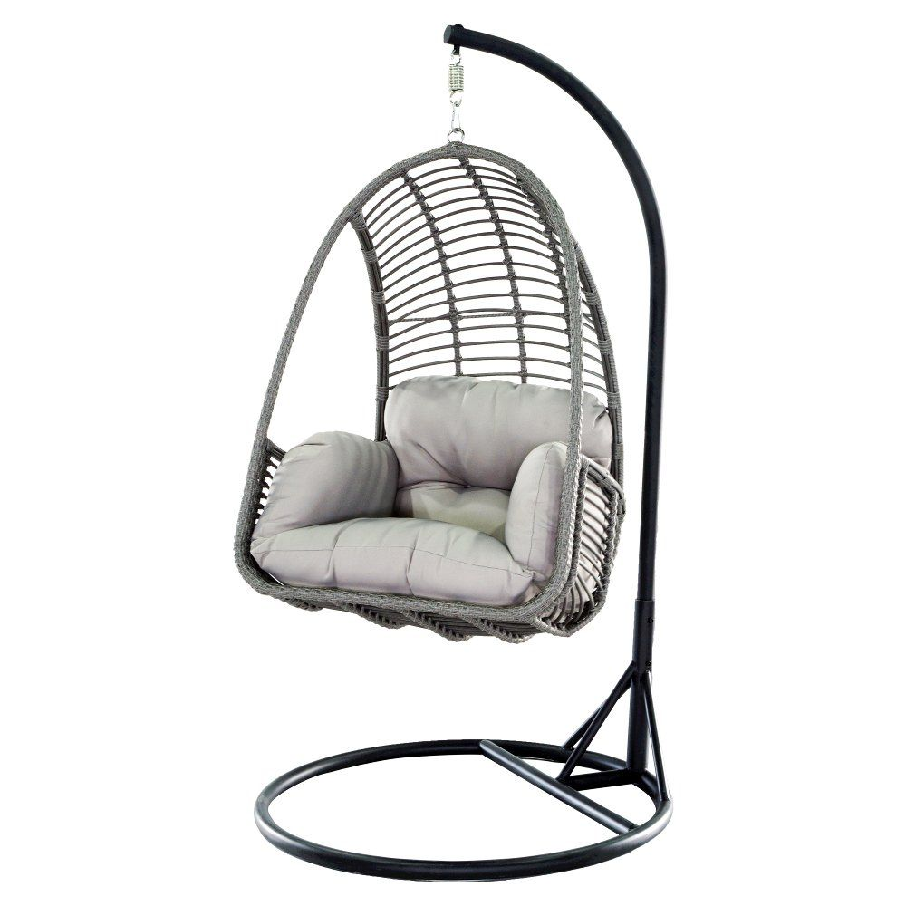 Metal Wicker Outdoor Hanging Chair With Cushion Hanging Chair