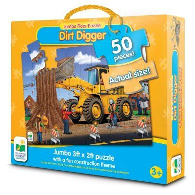 The Learning Journey Jumbo Floor Puzzle Dirt Digger