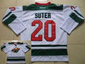 Reebok Minnesota Wild No.20 Ryan Suter White Men's Hockey Jersey