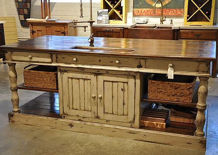 fascinating furniture style kitchen island | farmhouse style kitchen island | White Kitchens White ...