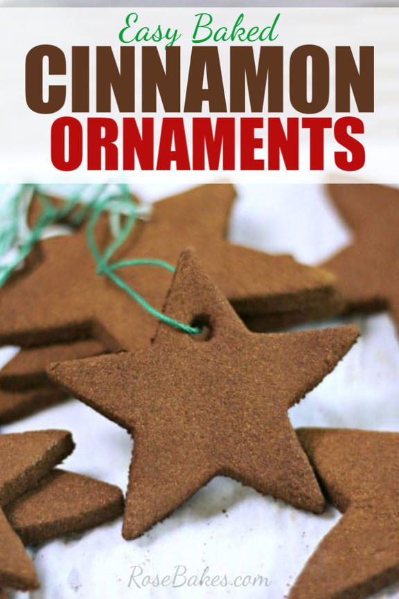 Baked Cinnamon Ornaments | Recipe | Cinnamon ornaments ...