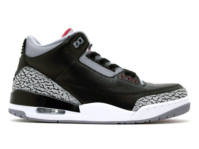 Air Jordan 3 Retro Black Grey White  db65529a2