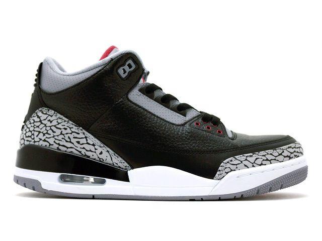 Air Jordan 3 Retro Black Grey White  4244daab0