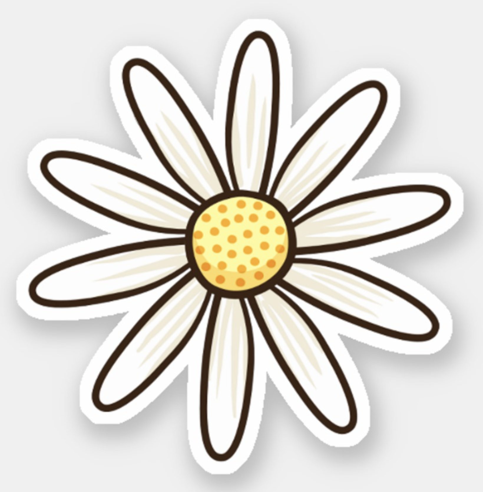 White daisy flower sticker zazzle com in 2019 pop