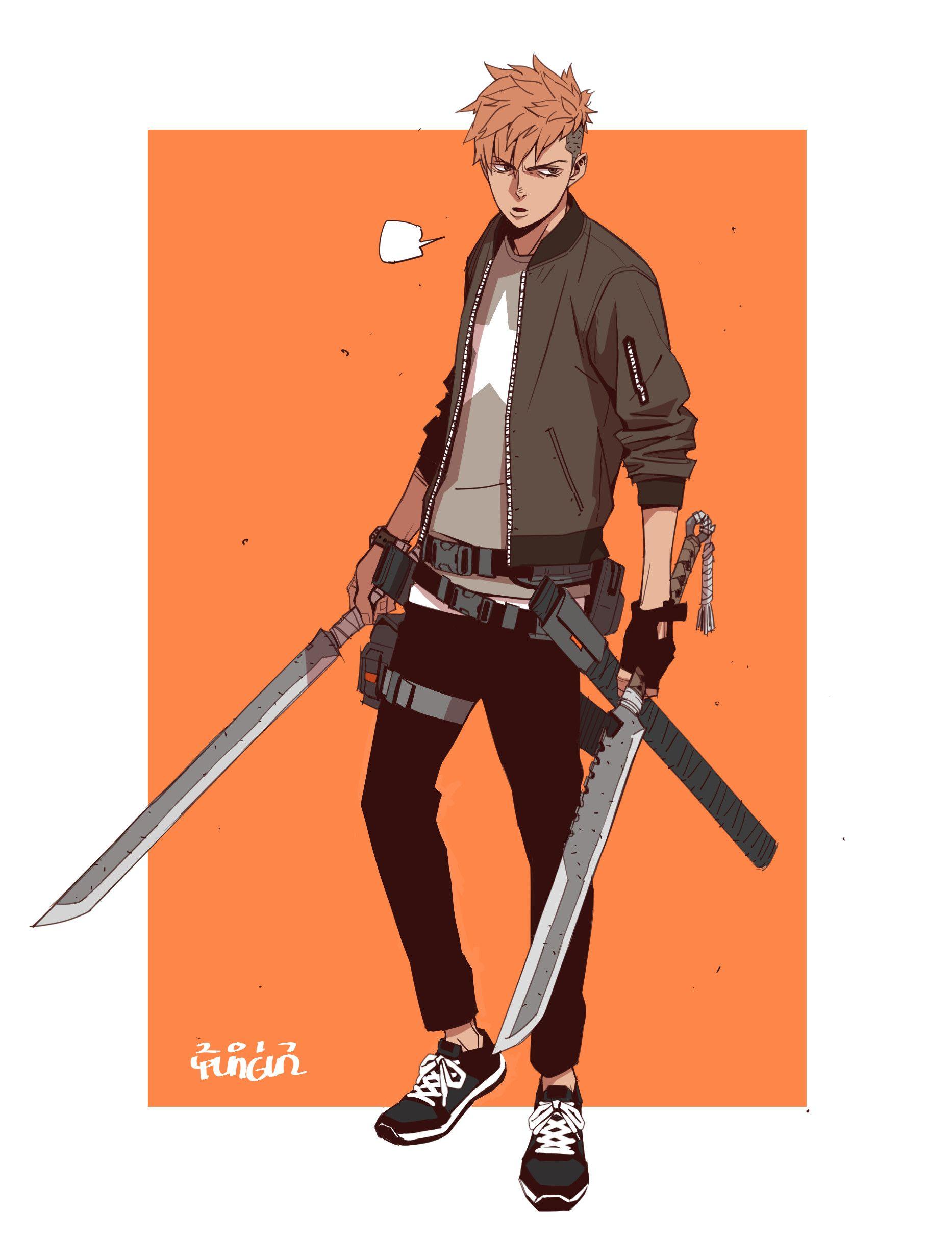 Swordsman Yungun Y Character Design Male Anime Character Design Concept Art Characters