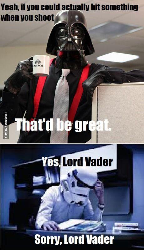 I M Sure He S A Great Boss Star Wars Jokes Star Wars Memes Star Wars Humor