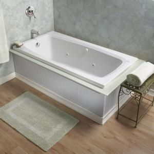 Delta White Acrylic OnePiece Shower With Bathtub Common In X - Jetted tub shower combo home depot