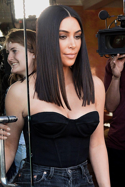 Kim Kardashian Debuts A New Shorter Hairstyle Pinterest Short