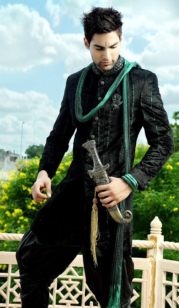 One of the majorly worn Wedding Sherwani nowadays is Jodhpuri Sherwani. Jodhpuri Sherwani is not only limited to Jodhpur but its famous all over the world.