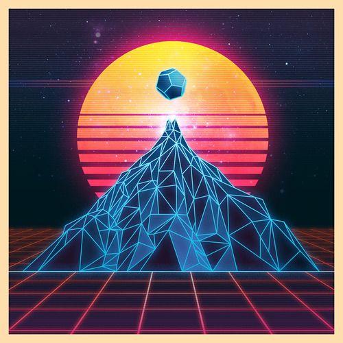 80s Design mountain lines | psychedelic | pinterest | mountains, retro