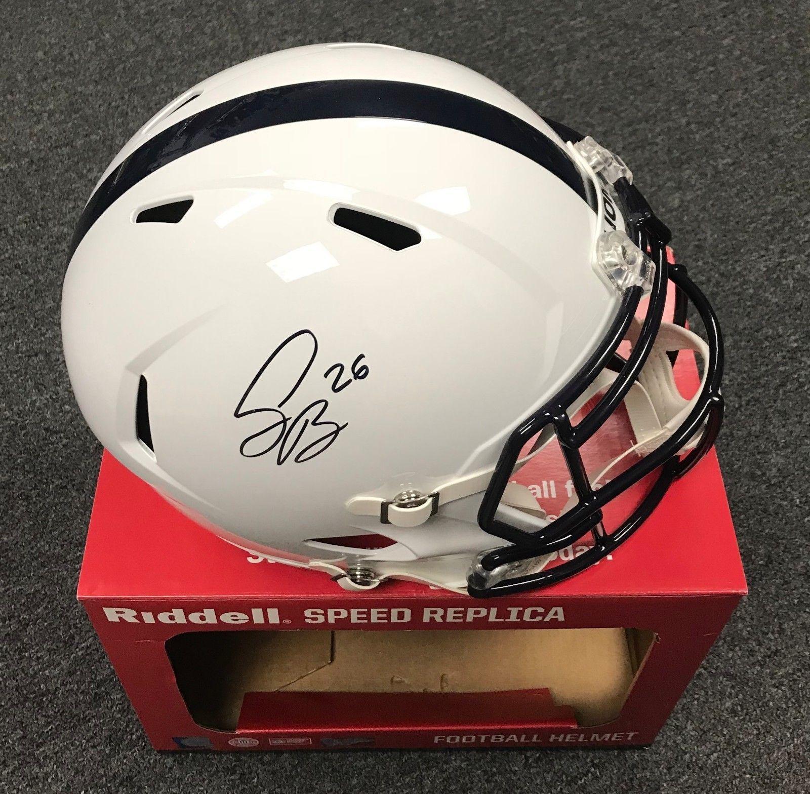 Saquon Barkley Signed Full Size Penn State Replica Helmet AUTO JSA  WITNESSED COA  Football 2e84a13d0
