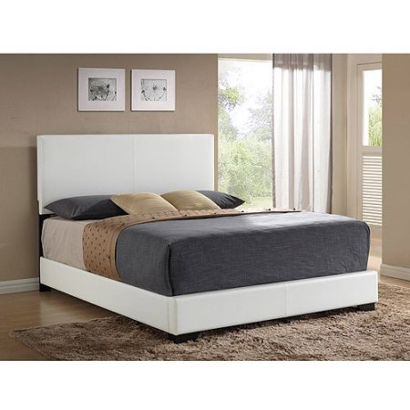 . Ireland Queen Faux Leather Bed  White in 2019   Products   Leather