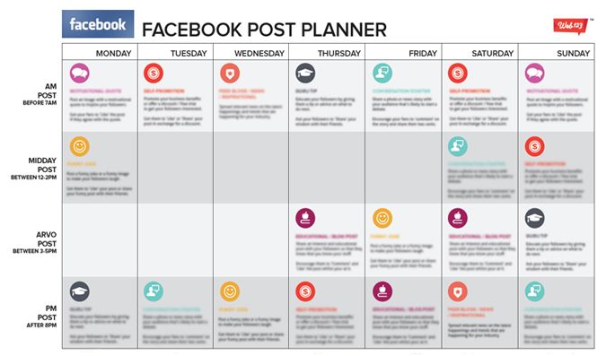 We look into how you can plan out your Facebook posts using a simple ...