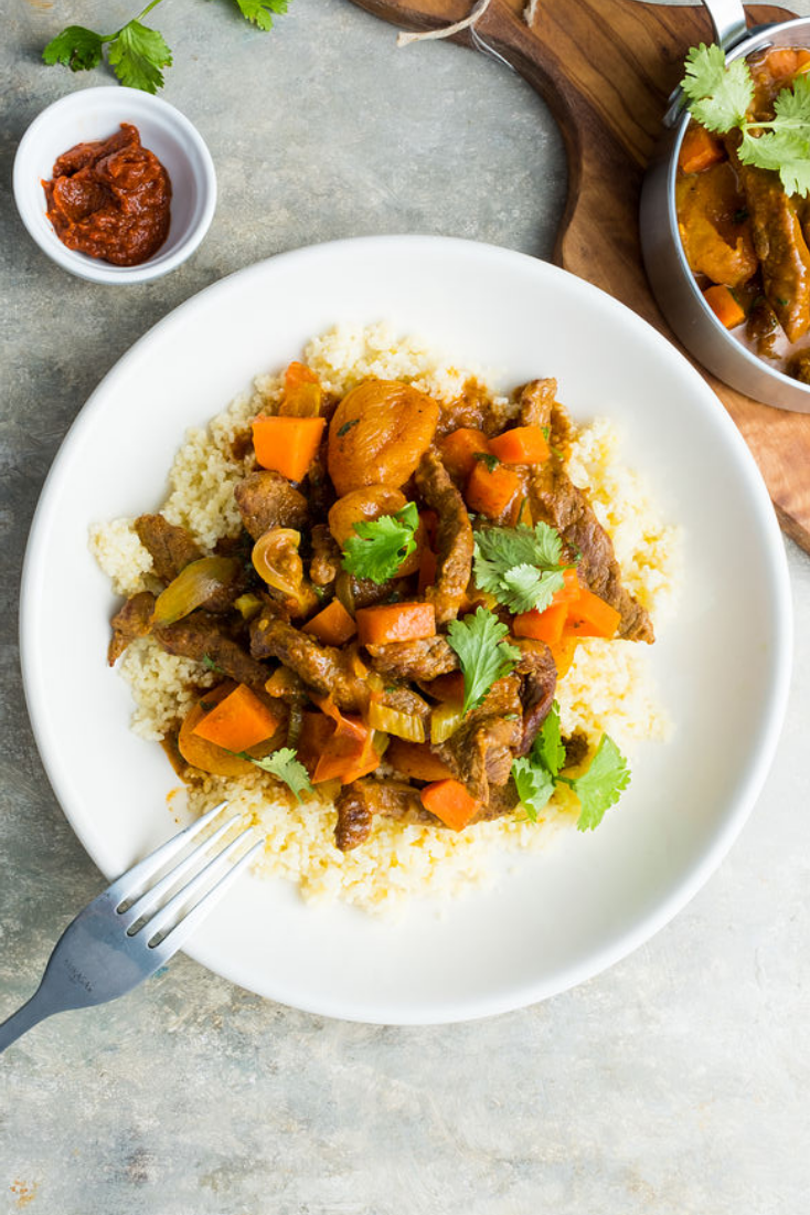 🌶 Spicy - Enjoy an oasis of North African flavours with our Moroccan Beef Stew served on a Bed of Couscous and quench your thirst for finer things with a selection of timeless spices!