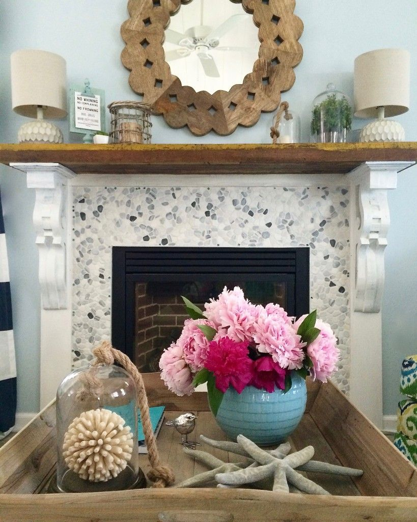 Summer Home Tour It S A Shore Thing Diy Cottage Mantel