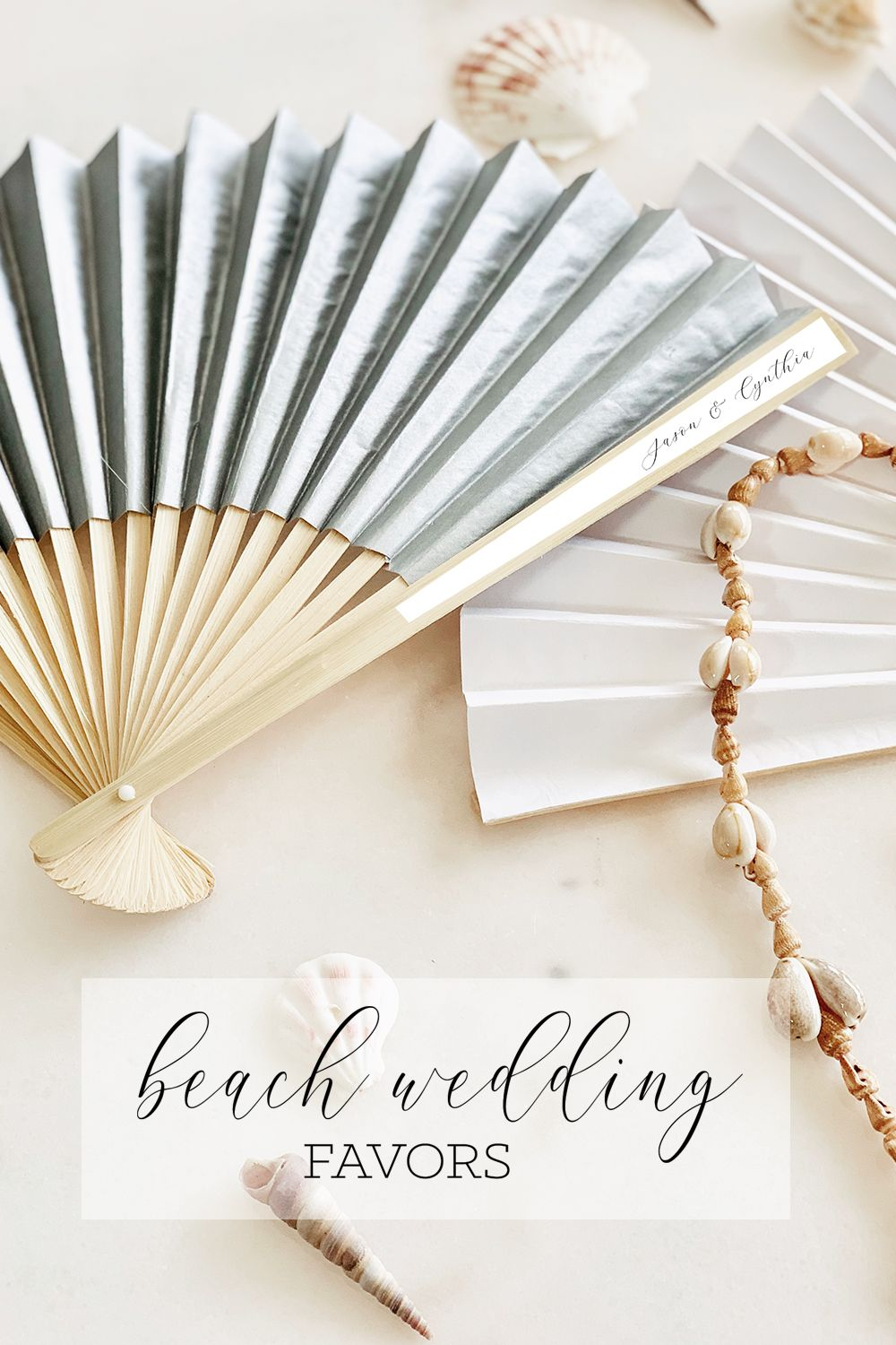 Personalized Paper Fans Beach Wedding Ideas In 2019
