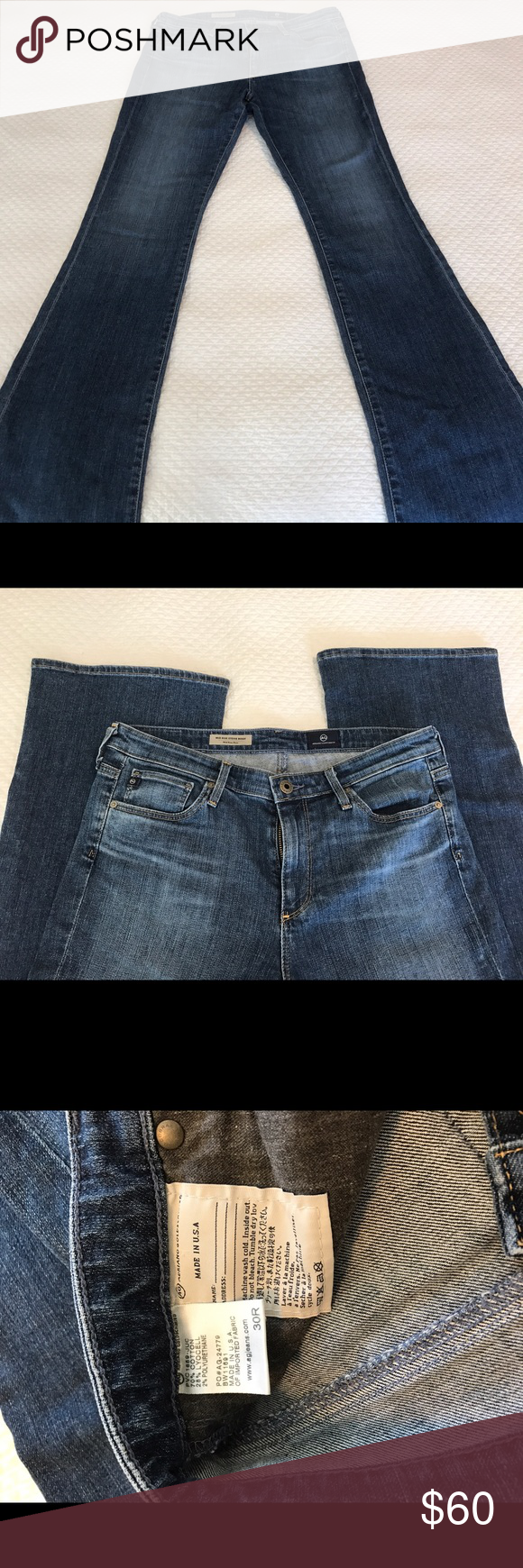 """Ag jeans """"Mid-rise Stevie Boot"""" NWOT I bought these and never wore them. They are soft denim and in excellent condition. AG Adriano Goldschmied Jeans"""