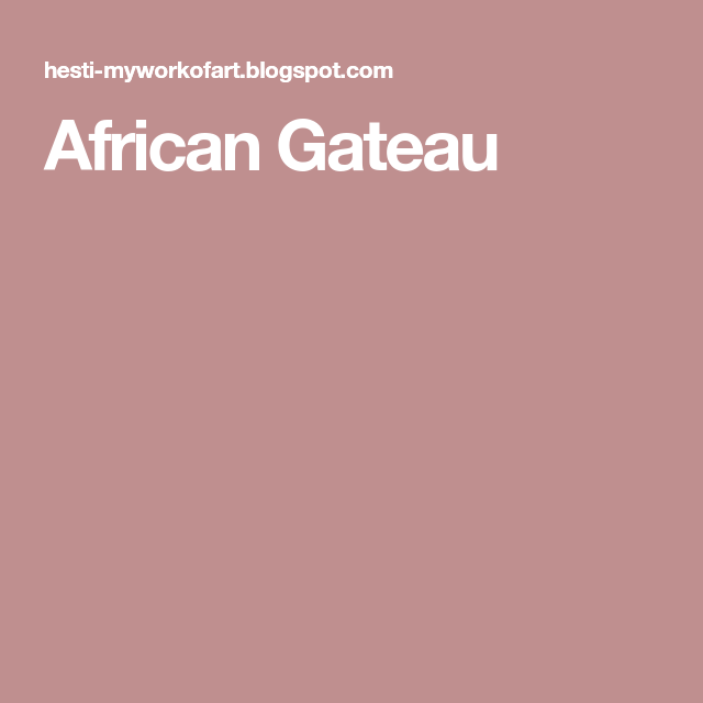 African Gateau Kue Resep Tiramisu
