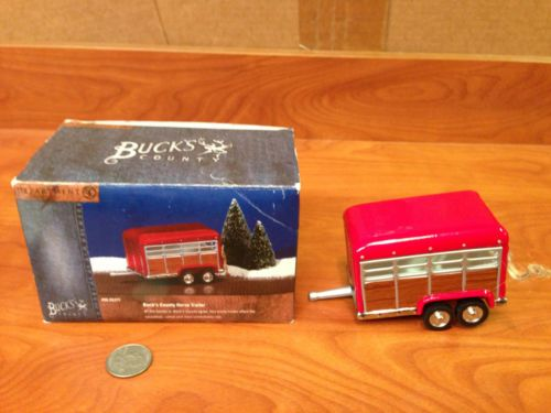Z1-61 Department 56 Buck's County Horse Trailer Truck Original Snow Village! in Collectibles, Decorative Collectibles, Decorative Collectible Brands, Department 56, North Pole | eBay