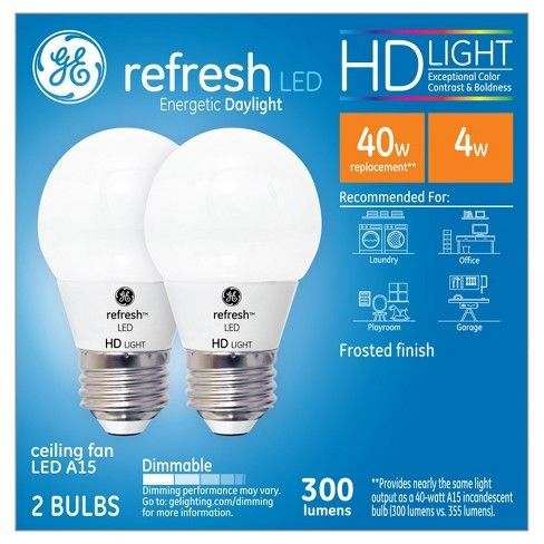 Refresh Daylight Hd 40watt Equivalent A15 Ceiling Fan Frost Bulb