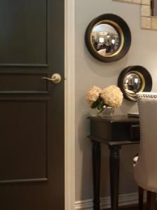 love the charcoal door and mirrors