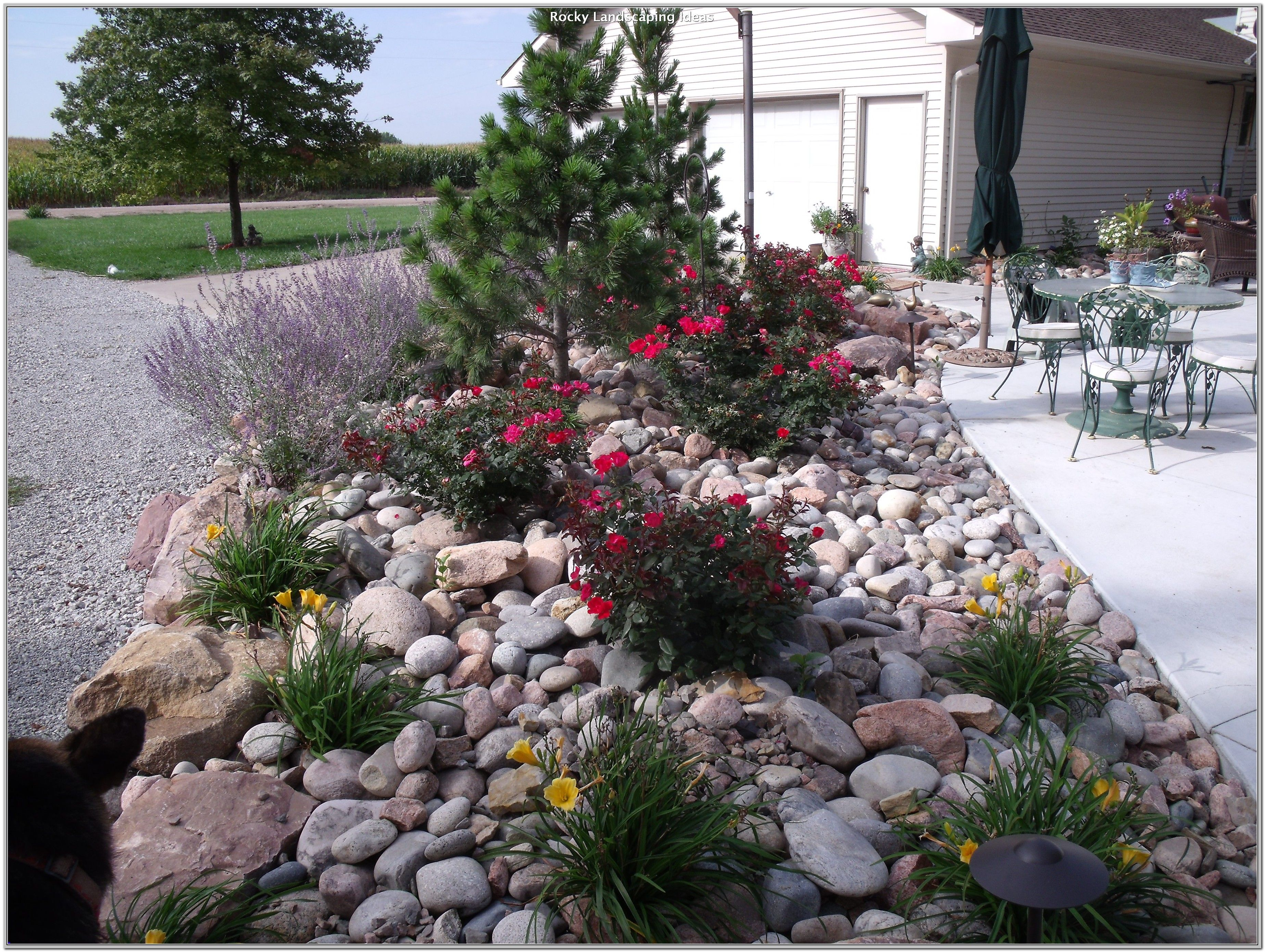 44+ Front yard ideas rocks inspirations