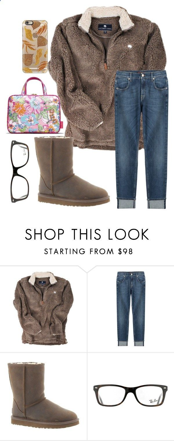 by legitmaddywill ❤ liked on Polyvore featuring 7 For All Mankind, UGG Australia, Lilly Pulitzer, Ray-Ban and Casetify