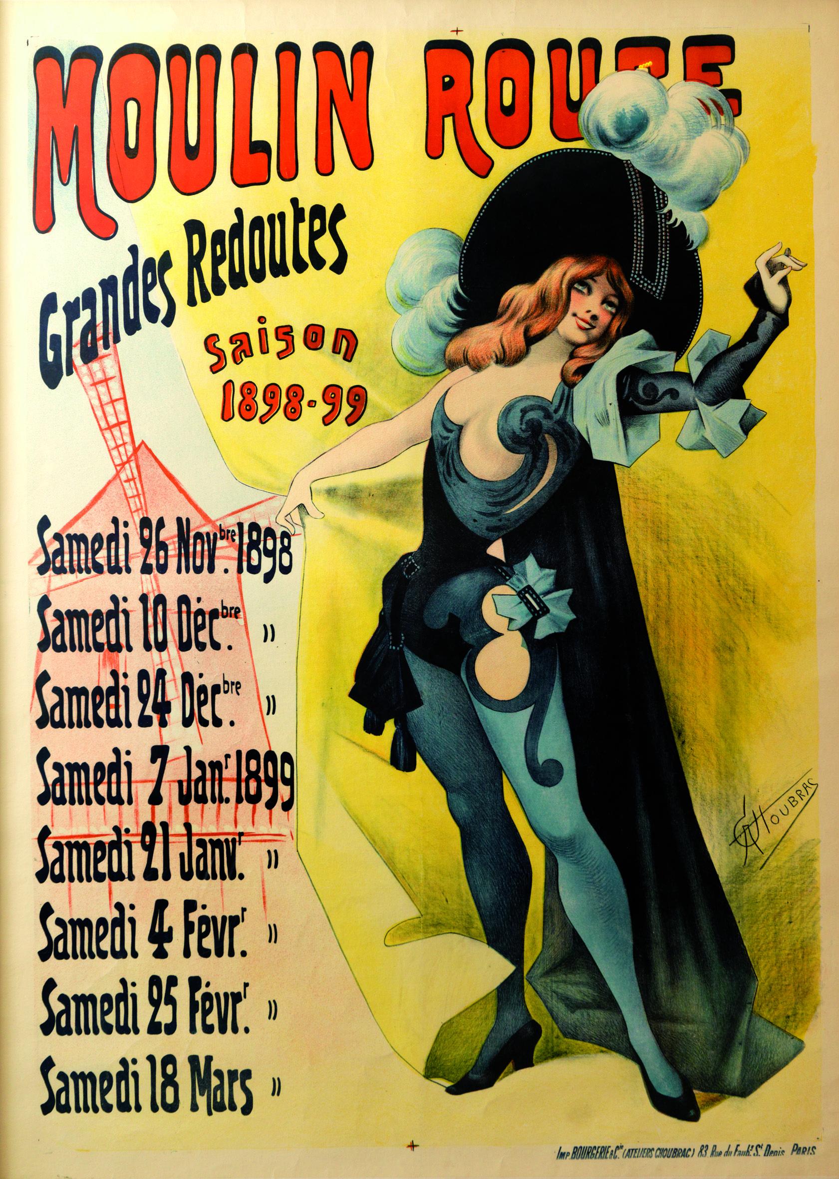 Moulin Rouge  Afficheposter  1898 #Moulinrouge #Poster