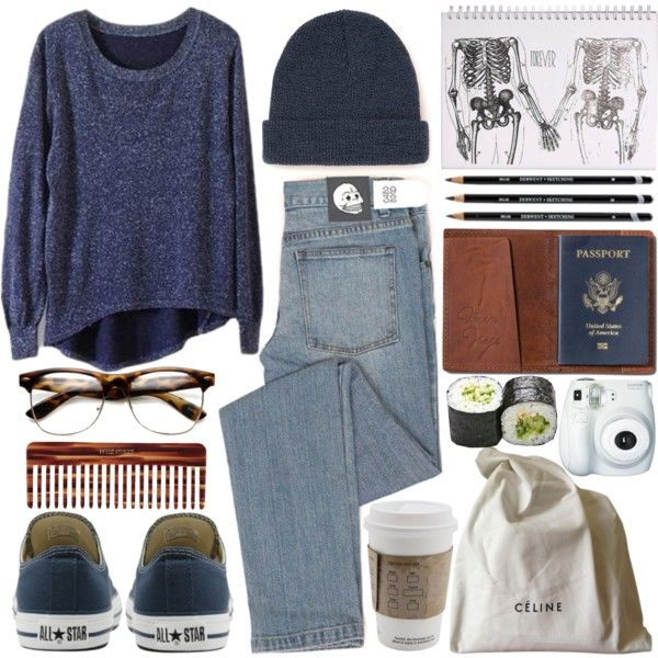 """aeroplane over the sea"" by bluevelvetmoon on Polyvore"