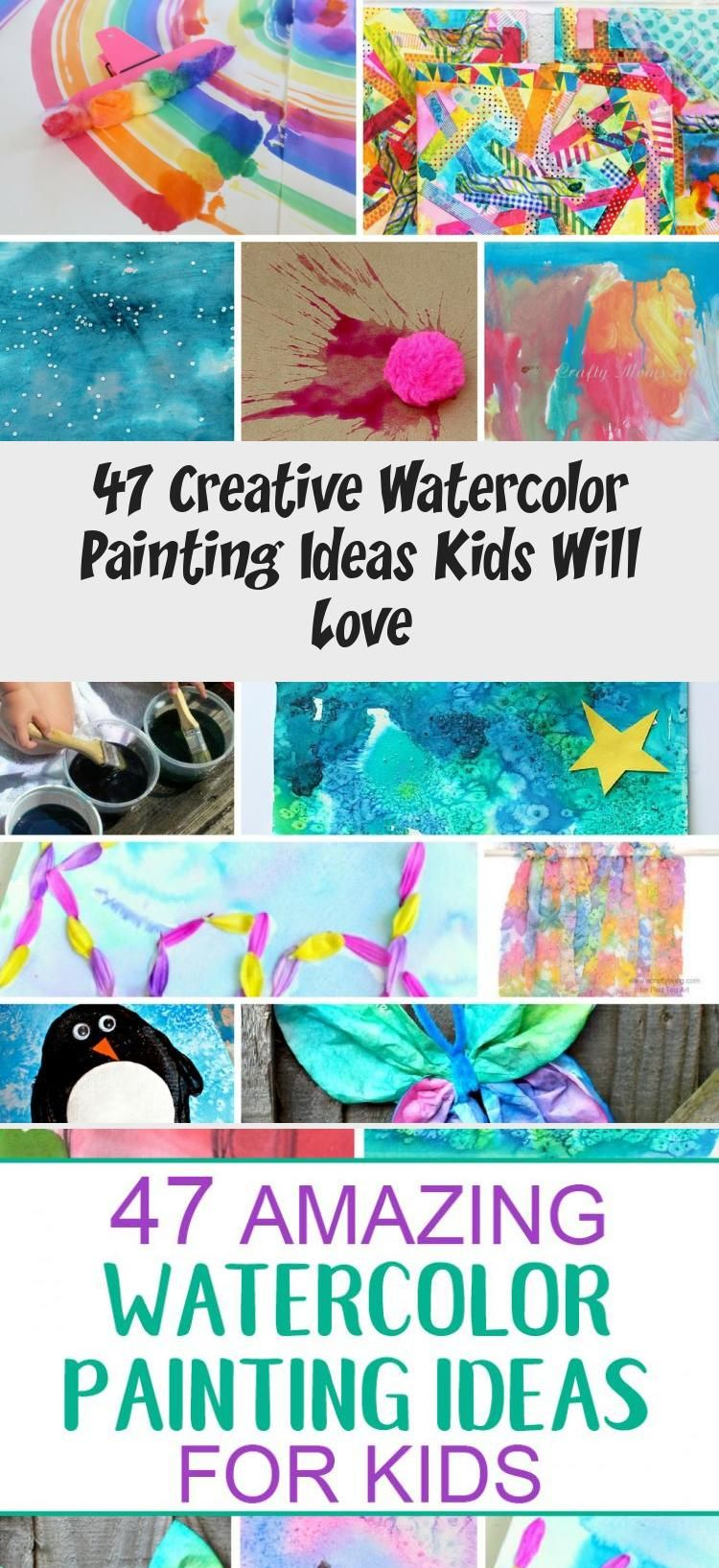 These Watercolor Painting Ideas Will Inspire You And Your Kids To