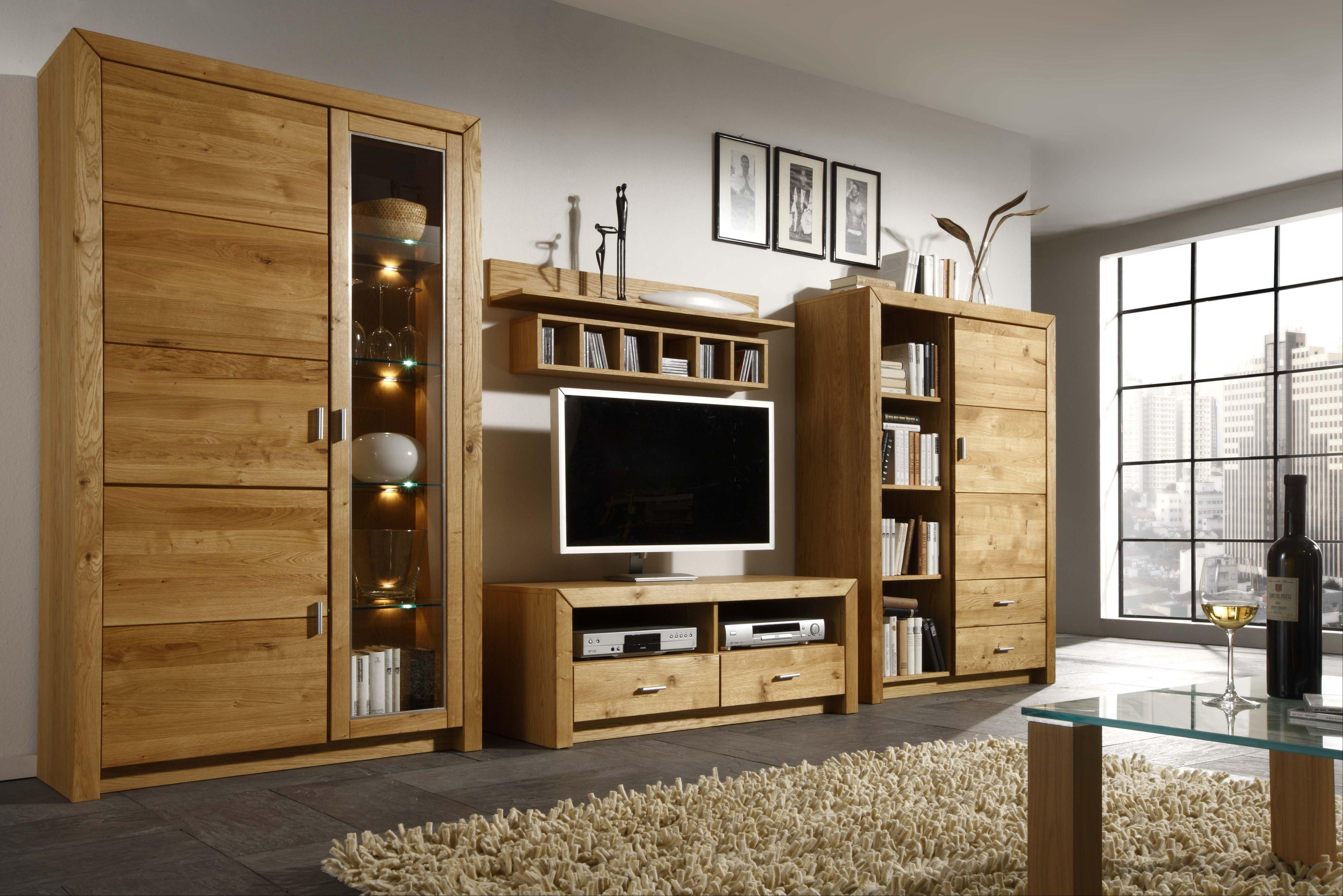 Charmant Diese Wohnwand Aus Teilmassiver Asteiche Zaubert Ein Neues Wohngefühl In  Ihr Zuhause: Wohnwand Asteiche Teilmassiv