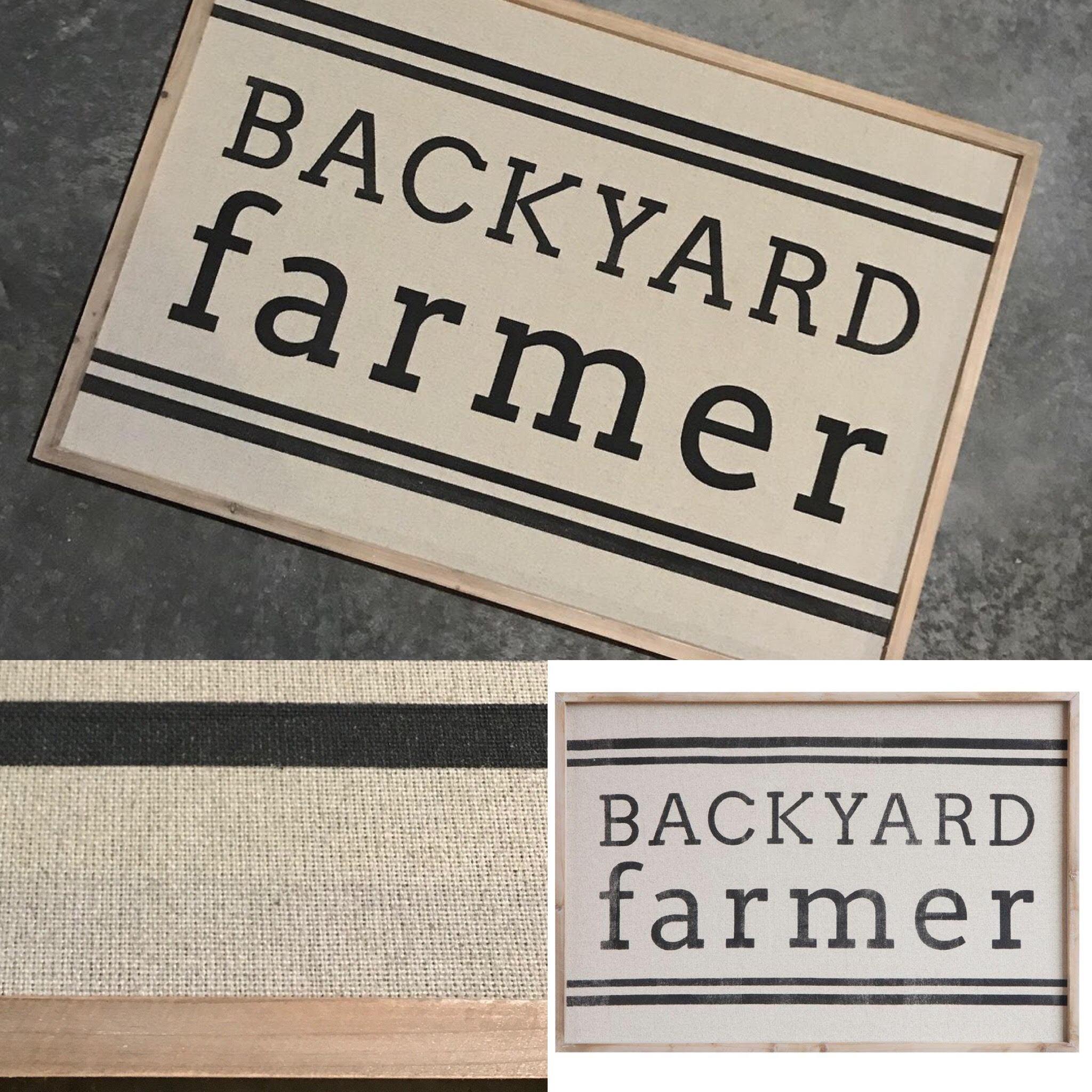 How Stinkin' Cute Is This Backyard Farmer Wall Decor Sign