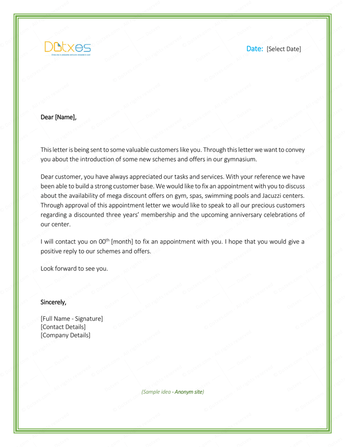 Appointment Letter Formats Amp Samples For Word Sample Download