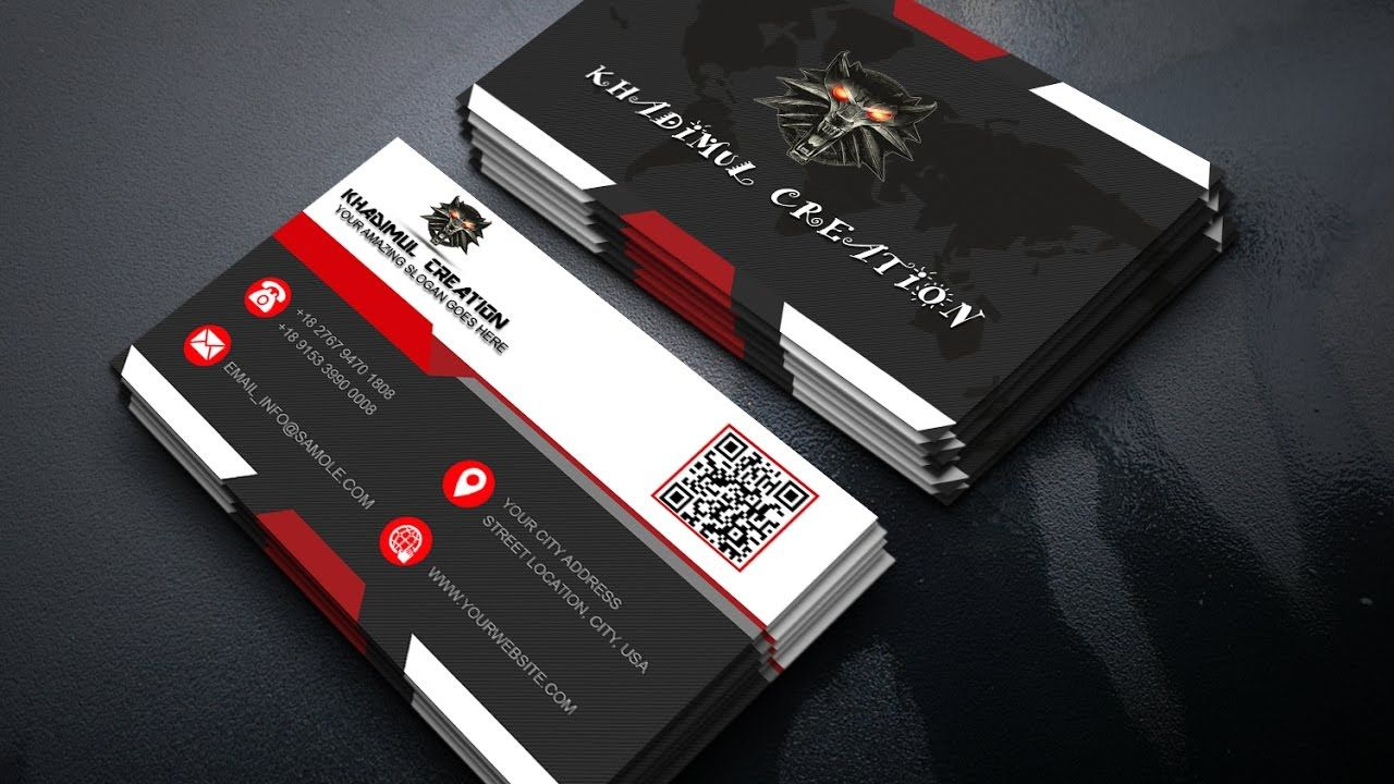 How to create business card design in photoshop ...